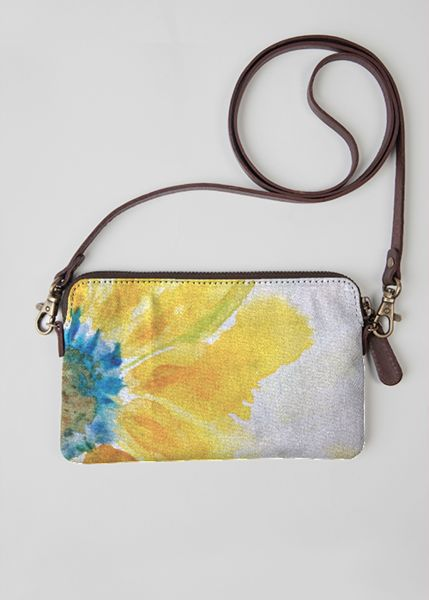 VIDA Leather Statement Clutch - Grey Flower Clutch by VIDA tLXzWiasLp