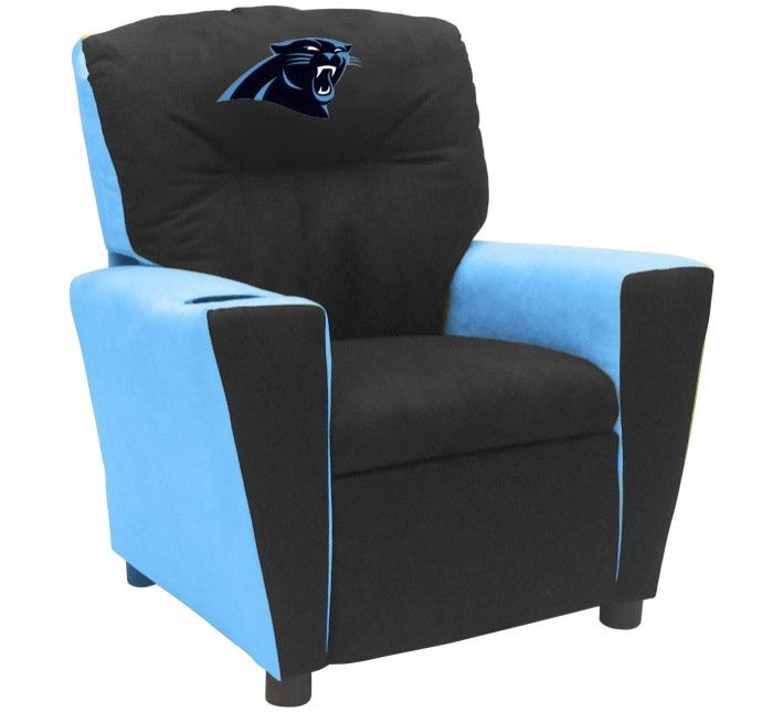 Carolina Panthers NFL Tween Fan Favorite Microfiber Recliner - Visit SportsFansPlus.com for more details!