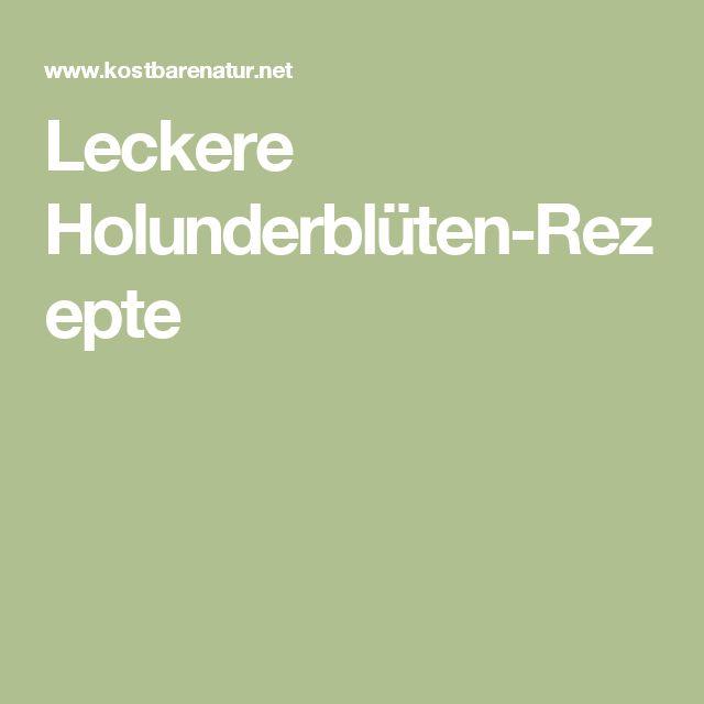 Leckere Holunderblüten-Rezepte