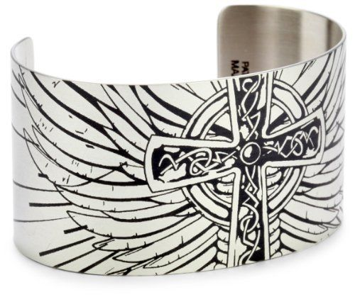"Tattooed Steel ""Bold Graphics"" Crossed Up Stainless Steel Cuff Tattooed Steel. $50.00. Made with premium grade stainless steel, this item is very durable.  All of our products are made in our Huntington Beach, California facility using various metal etching techniques and coating processes that create a unique finish.. Tattooed Steel?s manufacturing techniques include the use of lasers and other high-tech gadgetry; however, much of the manufacturing involves old-fashioned hand..."