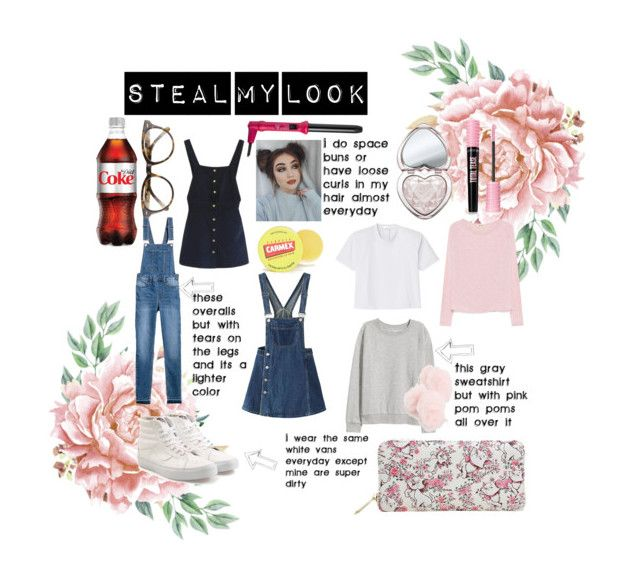 """steal my look <3"" by reagan-e-alexander on Polyvore featuring WithChic, H&M, TIBI, Too Faced Cosmetics, American Vintage, Royale, Carmex, Vans, Corinne McCormack and dresses"