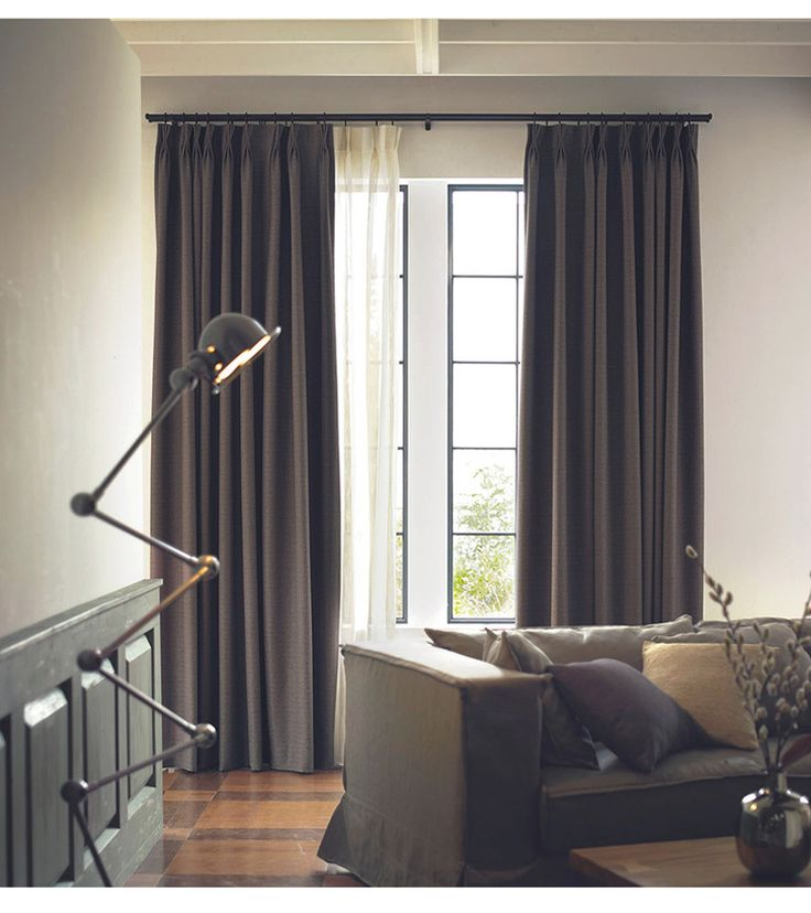 Curtains for living room Polyester Twill fabric Decoration Full light shading Hook Window Treatments Modern Living room curtains