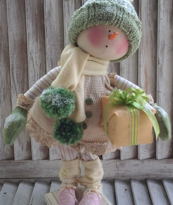 Primitive Pattern Primitive Christmas Snow Girl por CCCPrimitives