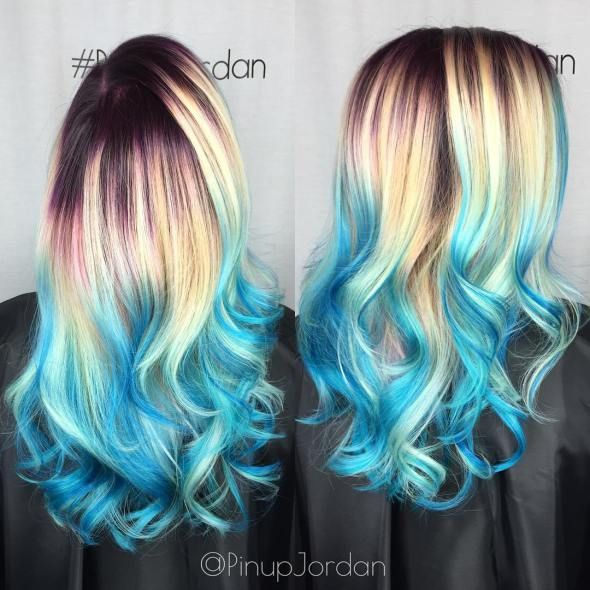 19 best i like it images on pinterest hairstyle blue highlights 30 icy light blue hair color ideas for girls pmusecretfo Gallery