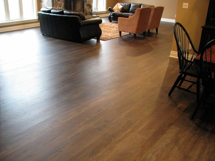Located near Bayfield Ontario - Scraped top plank grey elm flooring.  Flooring supplied, installed, and custom finished by Revival Flooring.
