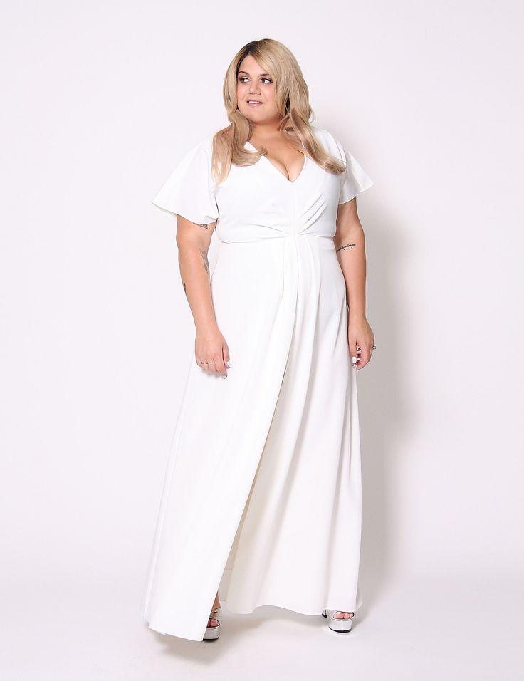 Split Front Maxi Dress By Christian Siriano SirianoLane BryantTimeless