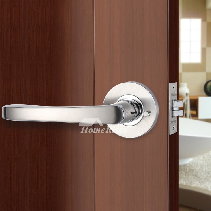 how to lock a door handle without a lock