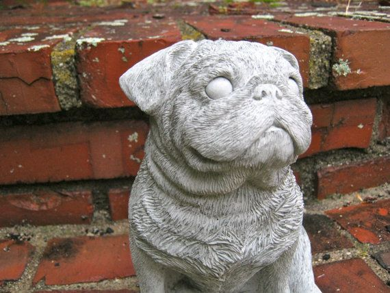 Attractive Pug Statue Concrete Cement Pug Dog Figure 8 By WestWindHomeGarden | Garden  Statues | Pinterest | Concrete Cement, Cement And Concrete