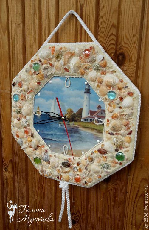 """Купить Часы настенные """"Море, море..."""" - разноцветный, часы, часы настенные, часы интерьерные"""