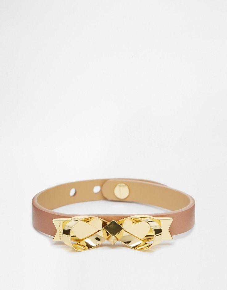 Ted Baker Leather Bow Bracelet