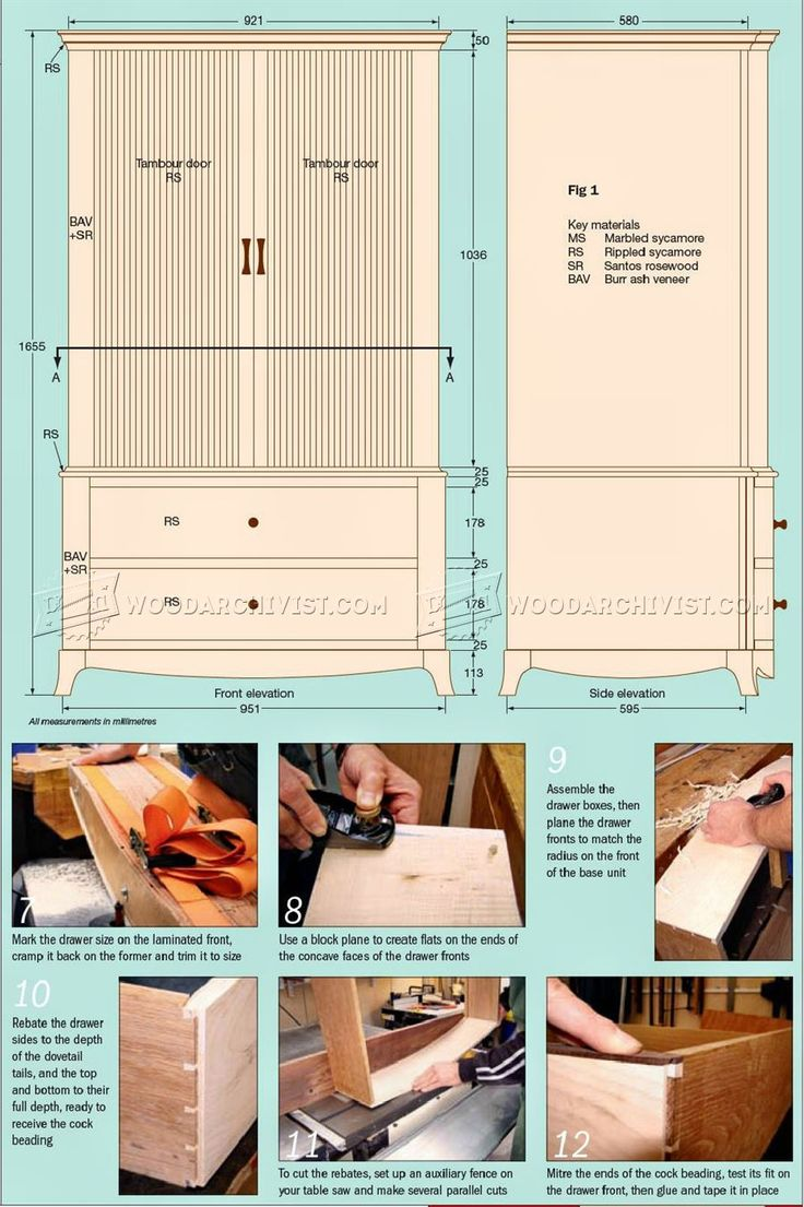 Sycamore Wardrobe Plans - Furniture Plans