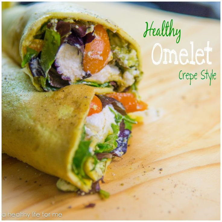 Healthy Omelet Crepe Style Recipe ready in under 10 minutes.  #recipe #egg #breakfast #brunch #omelet #yum #healthy #easy
