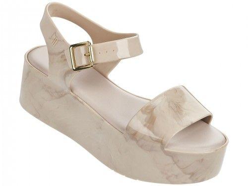 Melissa béžové mramorové sandále na platforme Mar Beige