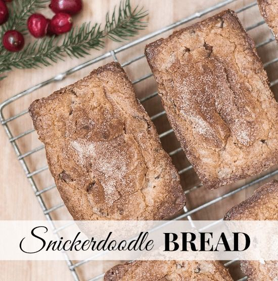 This Snickerdoodle Bread Recipe makes darling little loaves. Perfect for gift giving!