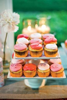 Pink Wedding Cupcakes, but swap out the gold liners for silver.