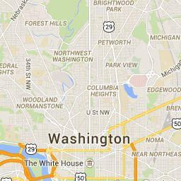 Carte interactive de Washington, DC