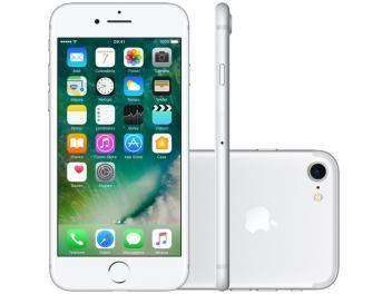 """iPhone 7 Apple 32GB Prateado 4G 4,7"""" Retina - Câm. 12MP + Selfie 7MP iOS 10 Proc. Chip A10, com as melhores condições você só encontra no Magazine Moda Paty"""