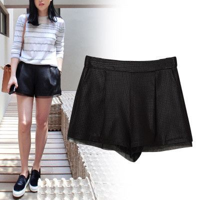 Jacqui Sheer Panel Organza Shorts $58.00 http://www.helloparry.com/collections/july-arrivals/products/jacqui-sheer-panel-organza-shorts
