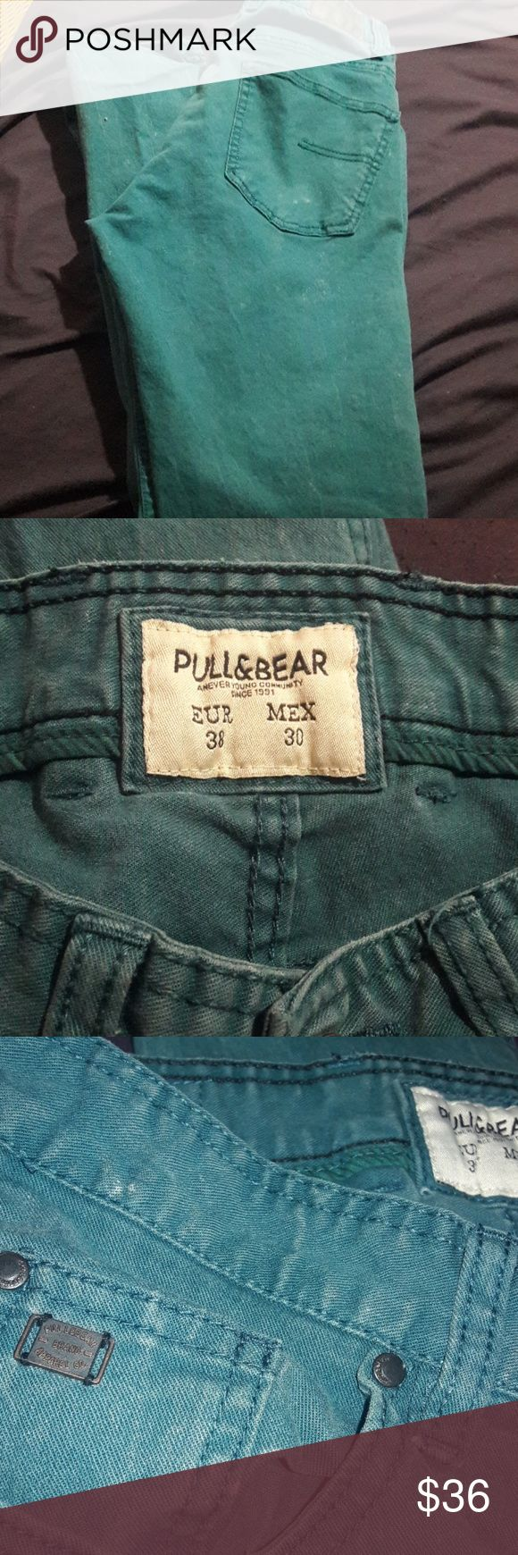 Skinny jeans pull & bear Size 38 usa 6size Faded turquoise blue used looking skinny jeans  Skinny fit Still in good condition Pull&Bear Jeans Skinny