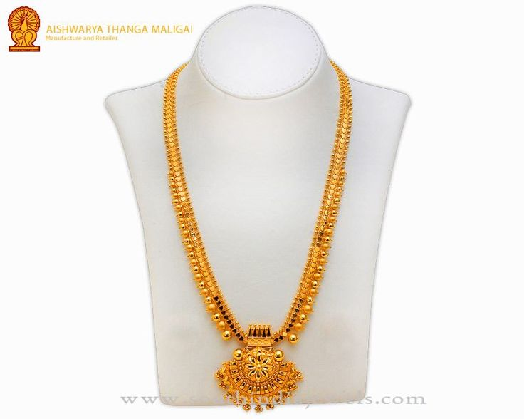 Gold Haram Designs in Chennai, Gold Long Haram Models at Chennai.