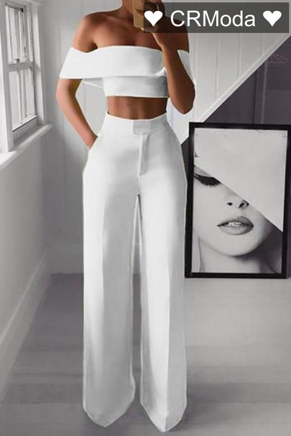 Crmoda Lindo Estilo Pantalones Elegantes Para Dama Ropa Informal Elegante Ropa Mujer Elegante