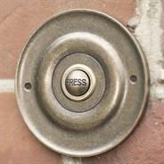 Brass Door Bell with Brass Push made by Jim Lawrence