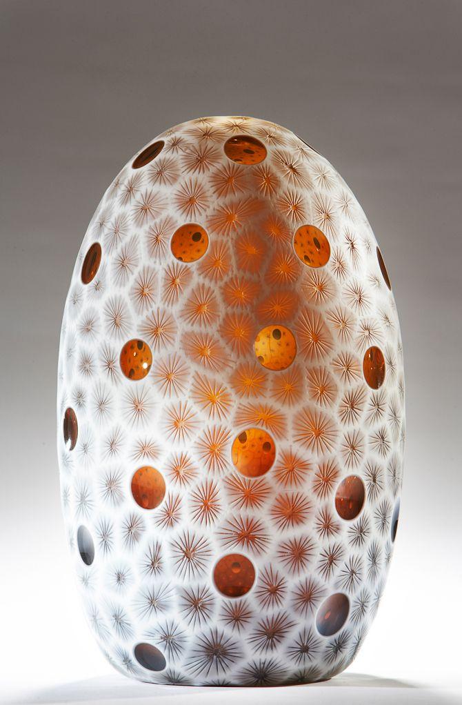 Acanthastrea Vase By Australian Glass Artist Kevin Gordon