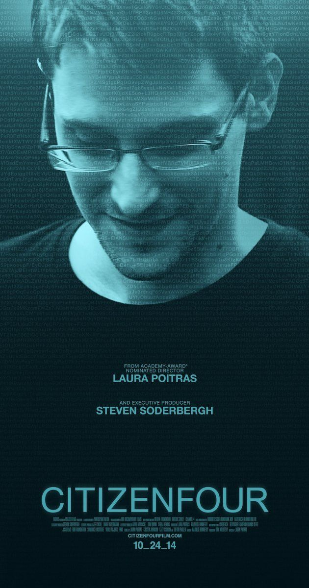 Citizenfour (2014) Directed by Laura Poitras.  With Edward Snowden, Glenn Greenwald, Jacob Appelbaum, Julian Assange. A documentarian and a reporter travel to Hong Kong for the first of many meetings with Edward Snowden.
