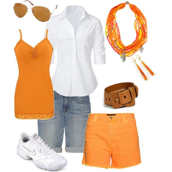 Orange Cruise-wear, created by donna-williams-burgess on Polyvore