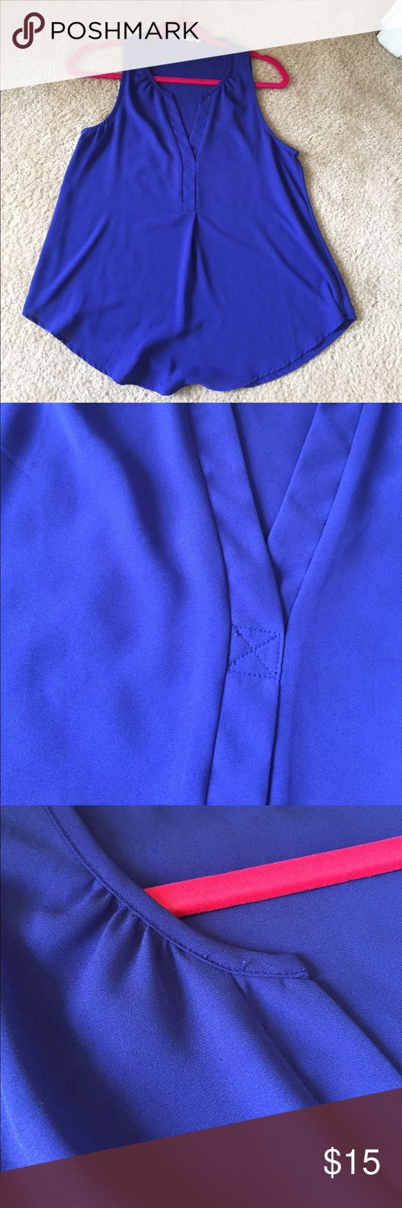 Lush Royal Blue Blouse Bought at Nordstrom 2 years ago. Worn a few times and in excellent condition. Lush Tops Blouses