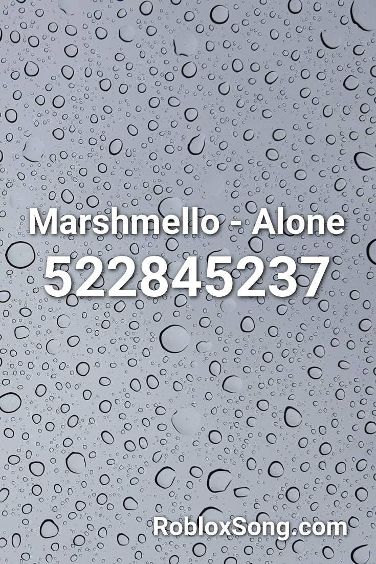 Marshmello Alone Roblox Id Roblox Music Codes In 2020 Roblox