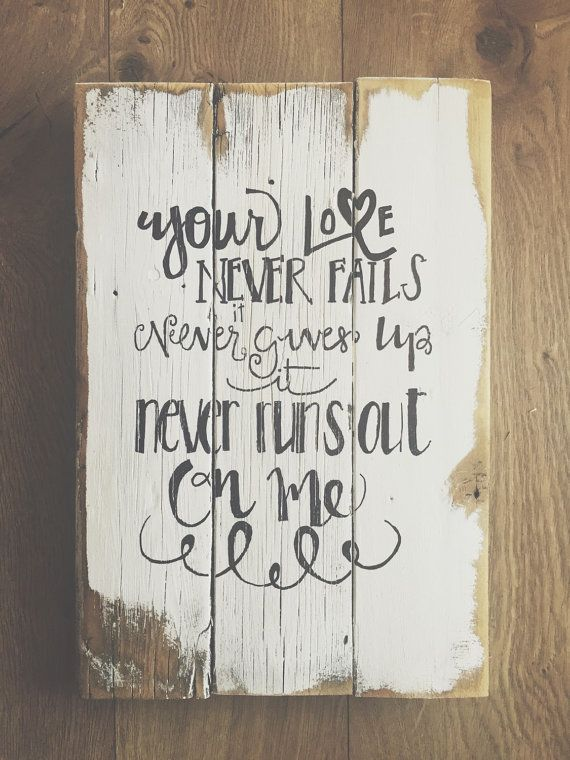 Your love never fails by RufusSalvagedGoods on Etsy