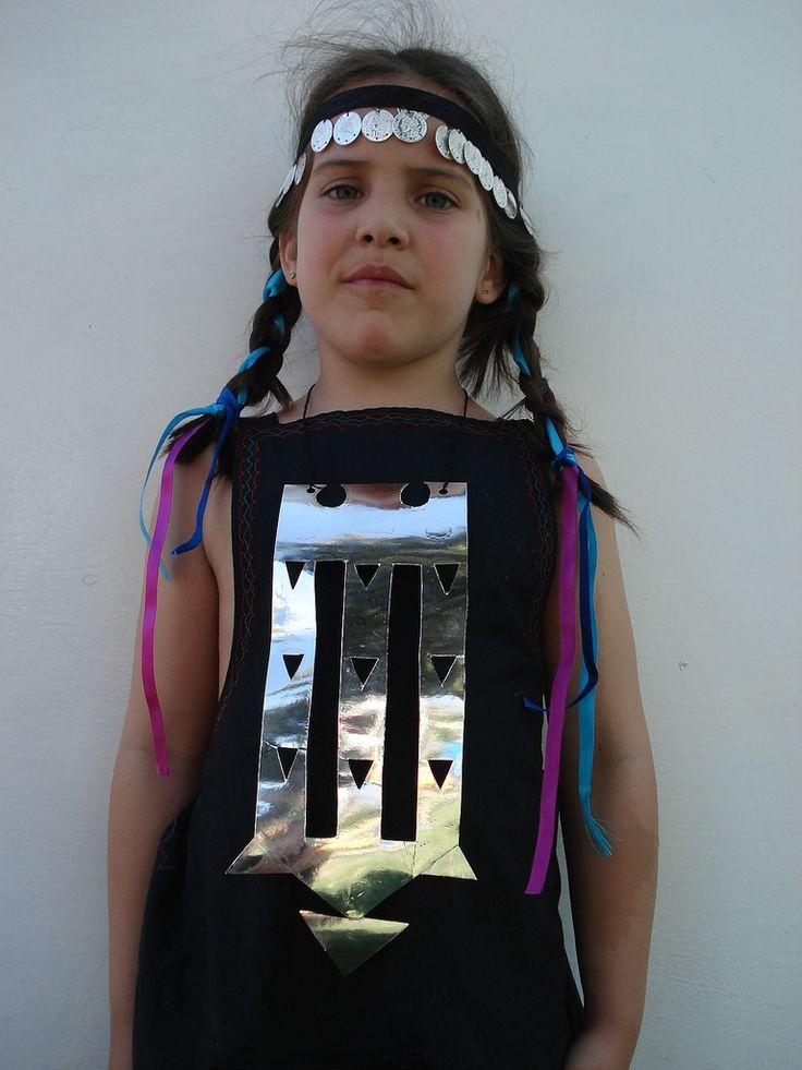 vestimenta mapuche niña - Buscar con Google