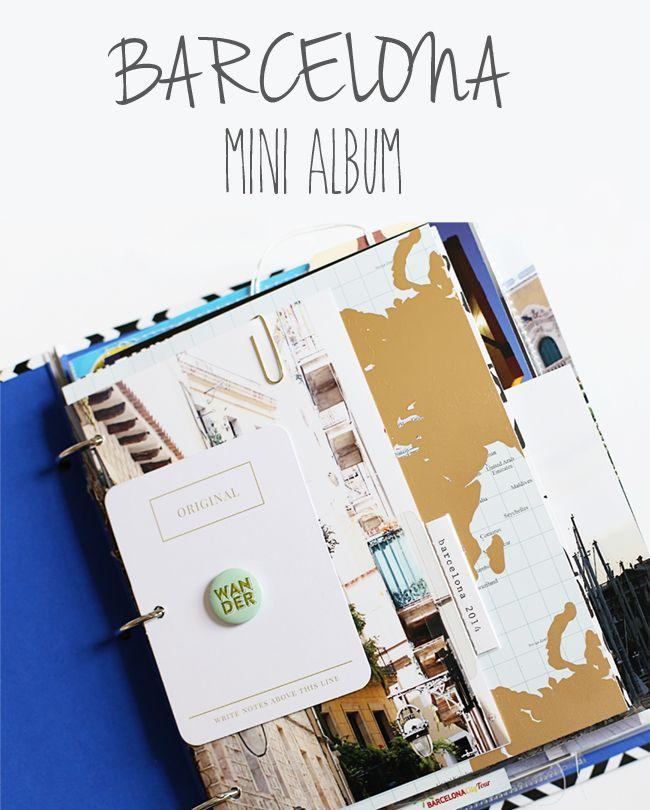 stephanie makes: Barcelona Mini Album