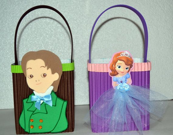 sofia the first inspired party favors bags/boxes by Dekolores, $2.00