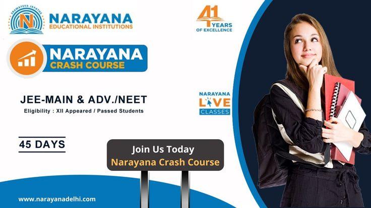 Join us today narayana crash course in 2020 crash course