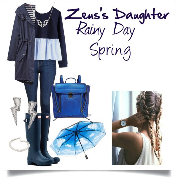 Zeus's Daughter Spring #9 by h-zita on Polyvore featuring Joules, Topshop, Hunter, 3.1 Phillip Lim, Tessa Packard, Lizzy James, HAPPYSWEEDS, rainy, percyjackson and pjo