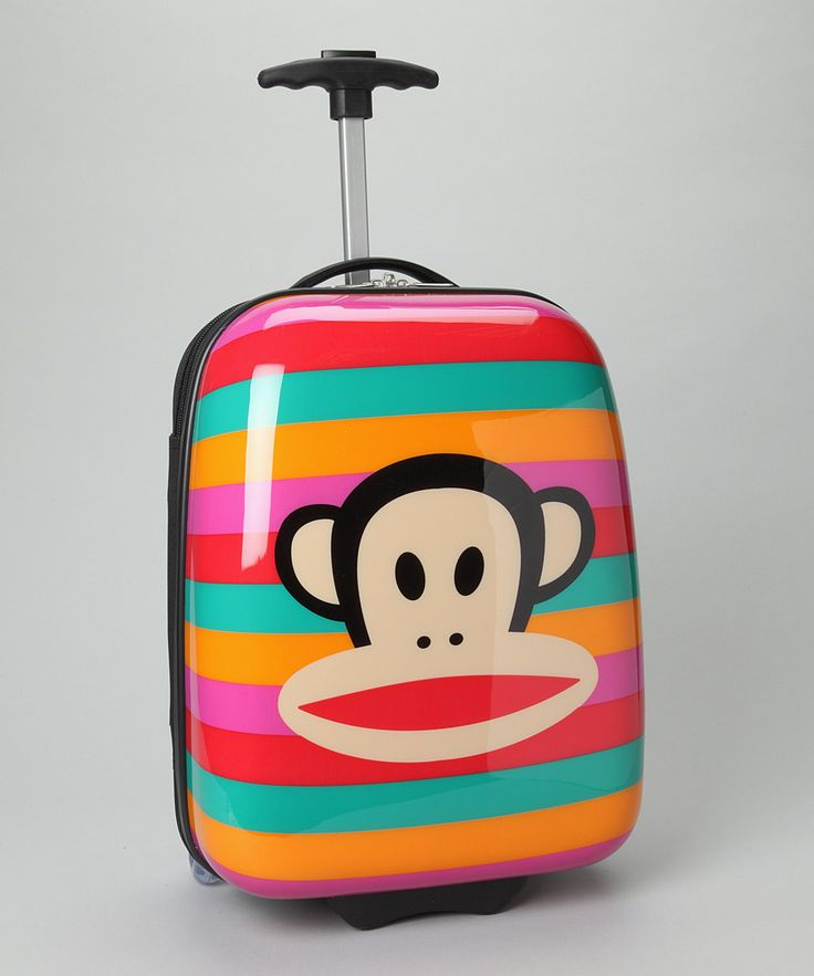 Paul Frank Red Rainbow Big Face Suitcase on #zulily | $36.99    @Meghan McKenna this is totally you!!
