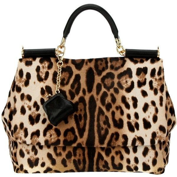 Can't go wrong with D & G! DOLCE & GABBANA leopard print tote ($2,455) found on Polyvore