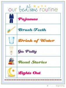 kids bedtime routine chart.... even better when you let them choose the order so they feel they have a choice on how to get ready