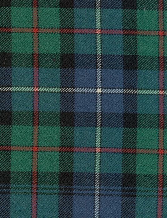 Robertson Hunting Tartan Fabric An Ancient In Blue Green And Black With A Dash Of Red White Suitable For Curtains H Highland Bag Co