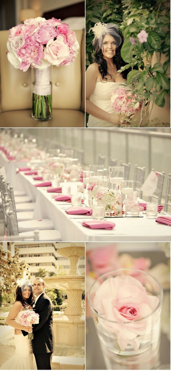 pink silver weddings pink wedding colors wedding color palettes silver
