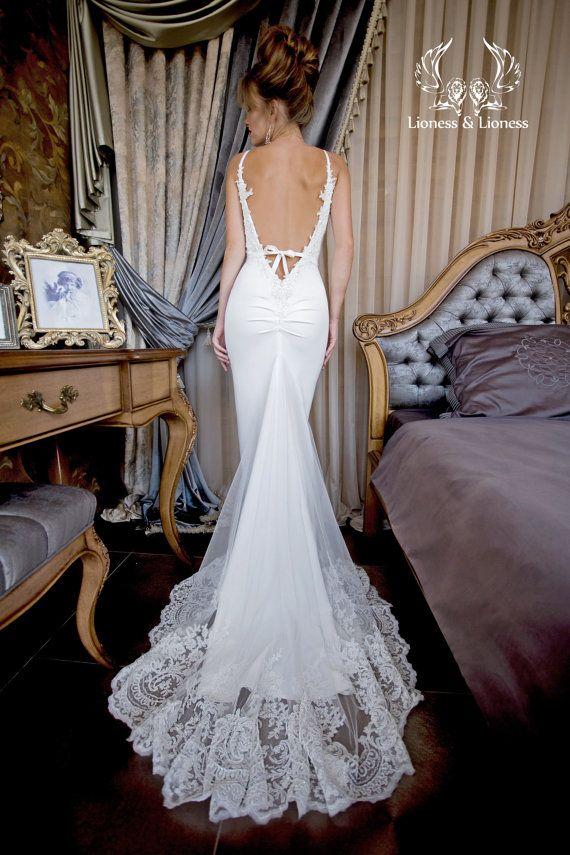 Wedding dress sexy wedding dress by DressesLioness on Etsy