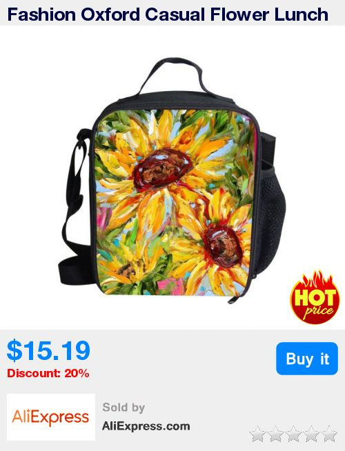 Fashion Oxford Casual Flower Lunch Bag For Women Thicker Girls Lunch Box Lady Adult Lunchbag Child Tote Bag Satchel Infantil * Pub Date: 19:51 Apr 26 2017
