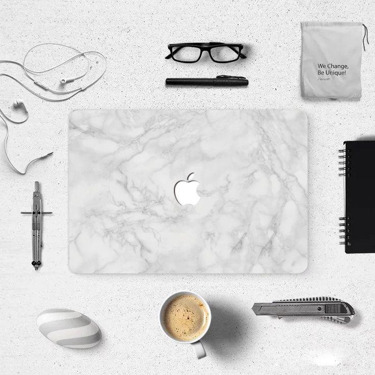 """Grey Marble Macbook decal macbook skin macbook sticker Macbook Air 11,Macbook Air 13 & Mac Pro 13 Retina, Macbook 12"""", Macbook Pro 15 Retina by idecalCrafts on Etsy"""