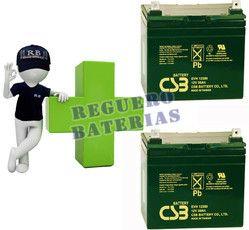 Kit de Baterias de sustitucion para silla de ruedas electricas en 12 voltios 39 amperios Agm Ciclicas CSB EVH12390