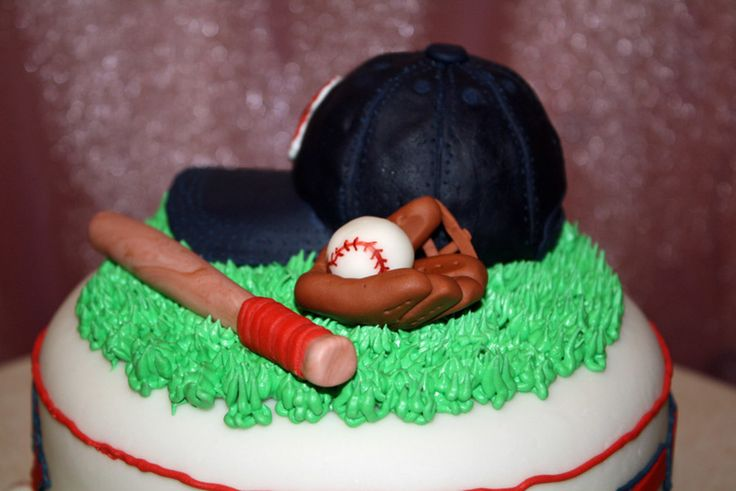 """Boston Red Sox 6"""" carrot cake with cream cheese frosting, covered with fondant decor. The cap is RKT covered with fondant. This was..."""