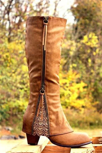 SOUTHERN SASS BOOTS - TAUPE $99.99 #SouthernFriedChics