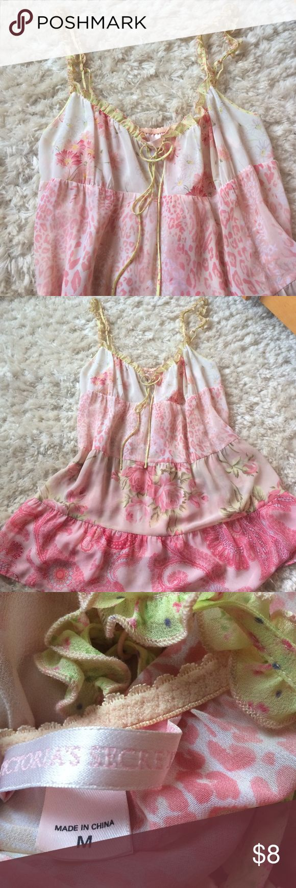 VS neglige Pretty in pink! Cute little neglige by Victoria's Secret. Sheer/see through material. Size M GUC So soft and girl🌷 Victoria's Secret Intimates & Sleepwear
