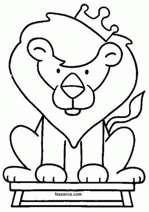Okul öncesi şirin Hayvan Resimleri Boyama şablonlari Bebek